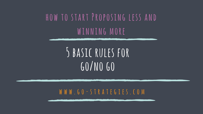 {Guest Post} Five basic rules for better Go/No Go decisions in A/E/C industry